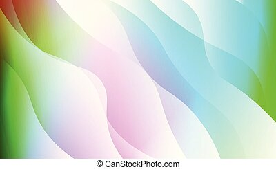 Wave Abstract Background. For Your Design Wallpaper, Presentation, Banner, Flyer, Cover Page, Landing Page. Vector Illustration with Color Gradient.