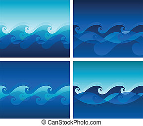 Wave background design