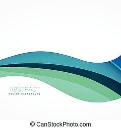 wave background design in blue color
