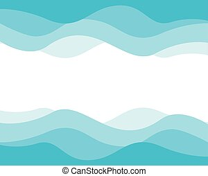 Wave background template