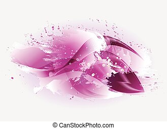 Wave background with watercolor stains. EPS10 vector illustration