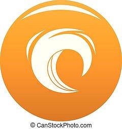 Wave blue icon vector orange