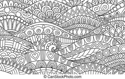 wave - Boho pattern for background, decorations, banner, ...