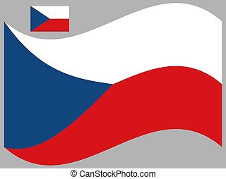 Wave Czech Republic Flag Vector illustration Eps 10.