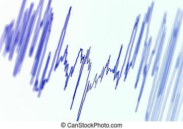 Wave diagram - Audio, seismic or stock market wave diagram. ...