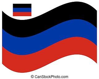 Wave Donetsk Peoples Republic Flag Vector illustration Eps 10.
