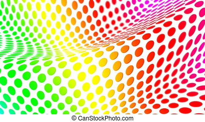 wave dot - Abstract background with colorful dots