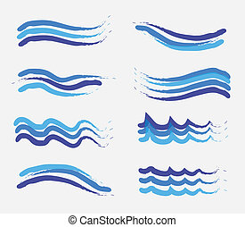 Wave drop over white background vector illustration