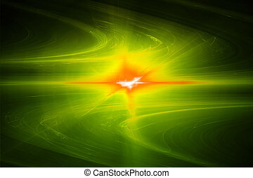 wave., efeito, amarela, experiência., mais claro, brilho, abstratos, circular
