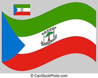 Wave Equatorial Guinea Flag Vector illustration eps 10
