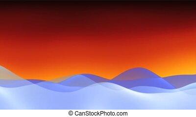wave fire sky