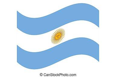 Wave flag of Argentina Vector Illustration