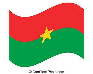 Wave Flag of Burkina Faso Vector illustration eps 10
