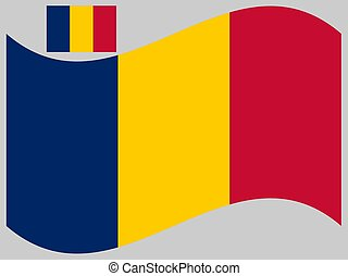 Wave Flag of Chad Vector illustration eps 10