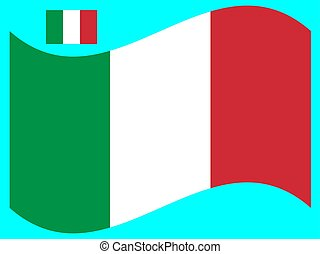 Wave Flag of Italy Vector