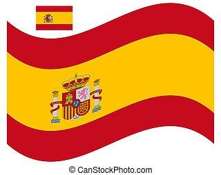 Wave Flag of Spain Vector