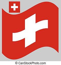 Wave Flag of Switzerland Vector illustration Eps 10