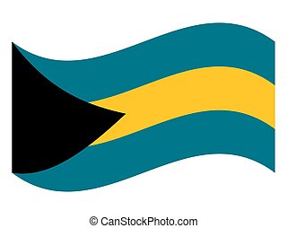 Wave Flag of the Bahamas Vector