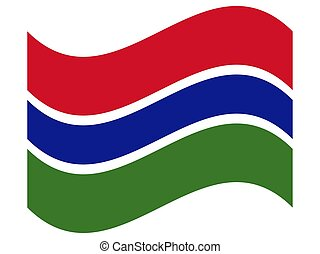 Wave Flag of The Gambia Vector