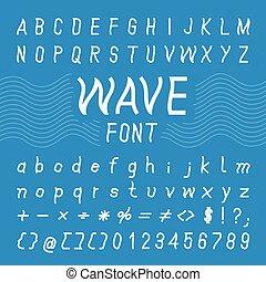 Wave Font Design