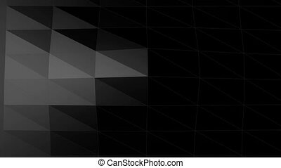 Wave geometric shape backdrop - Abstract background low poly...