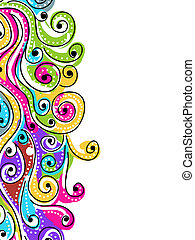 Wave hand drawn pattern for your design, abstract background