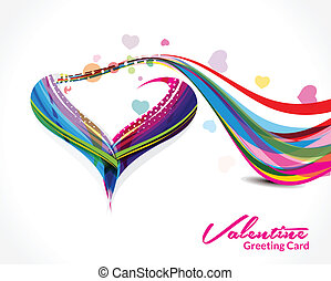 Wave Heart Shape Background Vector