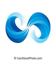 Wave icon on white background