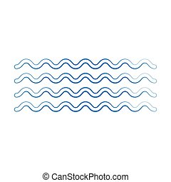Wave icon vector on white background