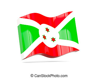 Wave icon with flag of burundi