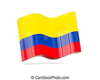 Wave icon with flag of colombia