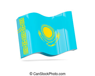 Wave icon with flag of kazakhstan