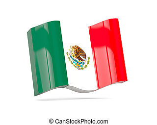 Wave icon with flag of mexico