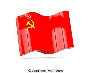 Wave icon with flag of ussr
