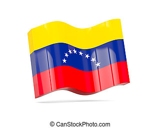 Wave icon with flag of venezuela