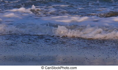 wave in beach slow motion
