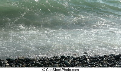 Wave in the black sea.