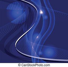 Wave line burst dark blue backgroun