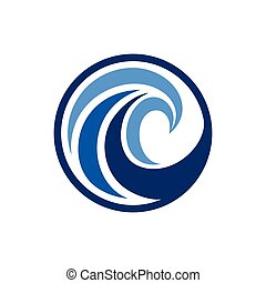 wave logo with circle concept