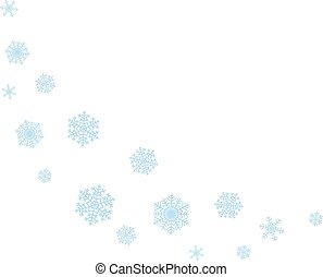 Wave of snowflakes