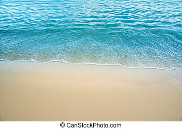 Wave of the sea on the beach