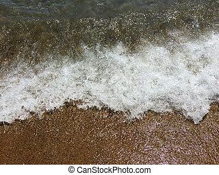 Wave on sand 1