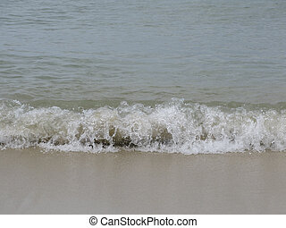 Wave on sandy beach