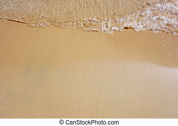 Wave on sandy beach - Wave on a sandy beach