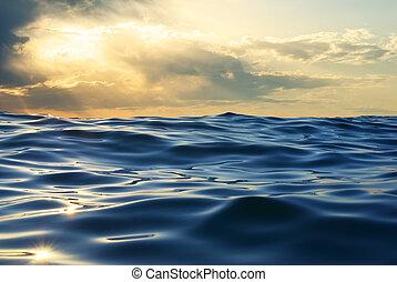 Wave on sunset