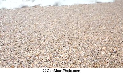 Wave on the sea, ocean. Beach. Clear water at sea, calm. Vacation, relaxation. Full HD.