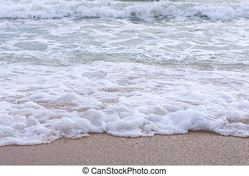 Wave on Tropical beach in pattaya Thailand