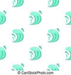 Wave pattern flat