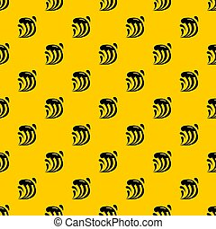 Wave pattern seamless repeat geometric yellow for any design