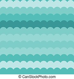 Wave pattern vector, blue abstract waves background seamless